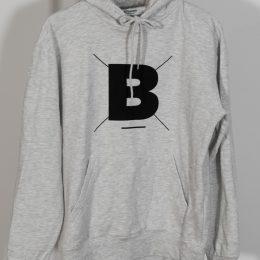 B - Hoodie in Ash-Grey